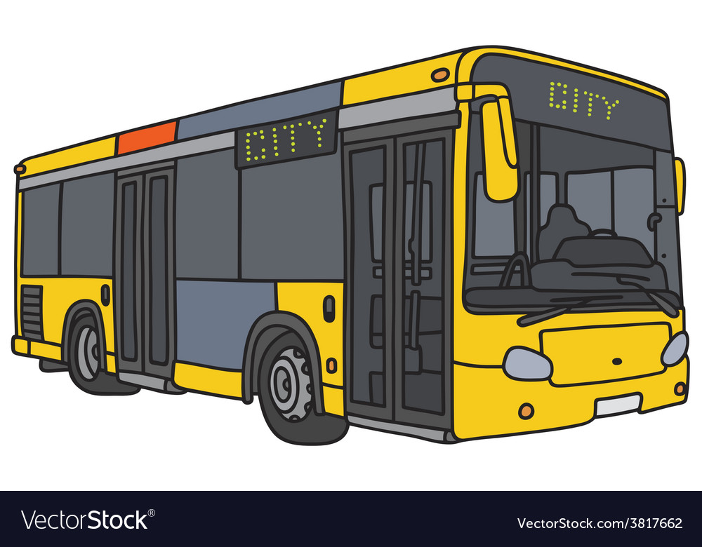 City bus vector | Price: 1 Credit (USD $1)