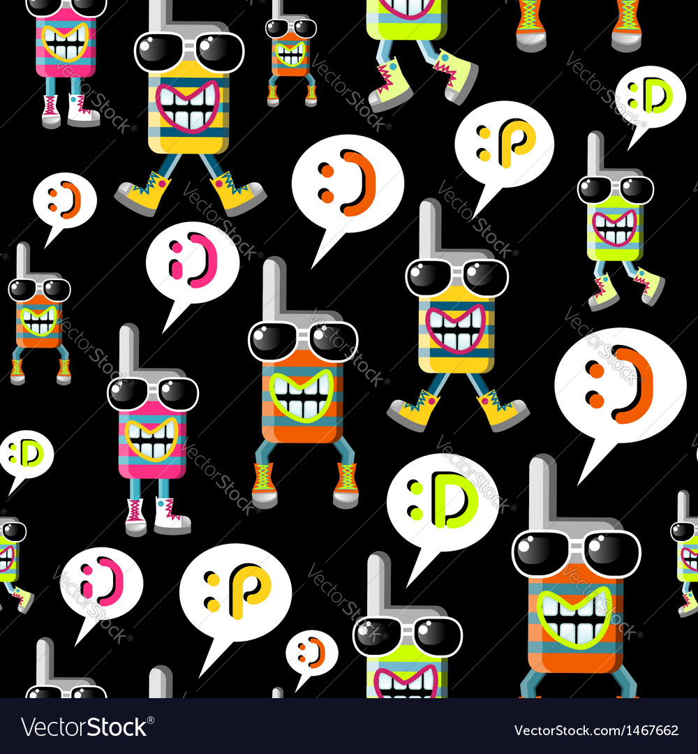 Cool mobile phone pattern vector   Price: 1 Credit (USD $1)