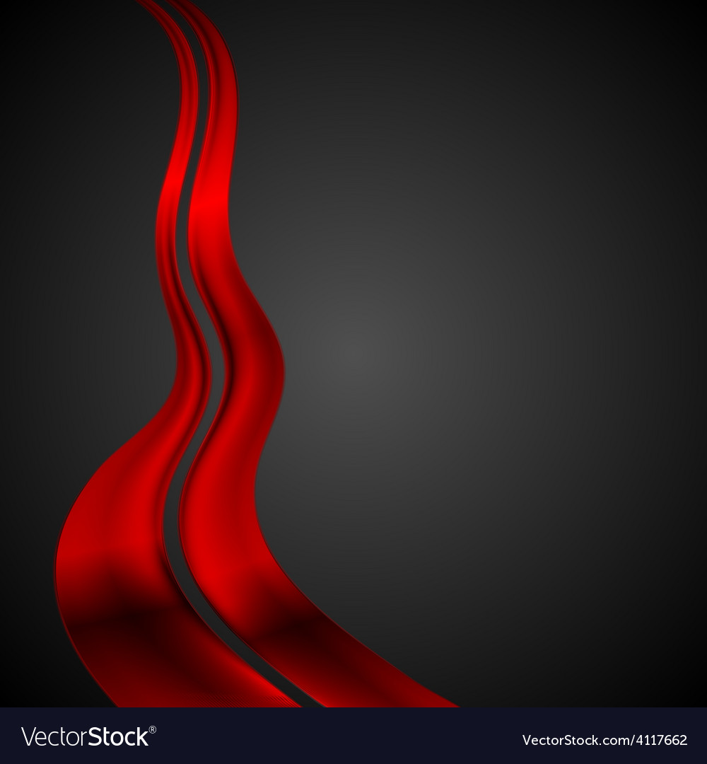 Dark red futuristic waves background vector | Price: 1 Credit (USD $1)