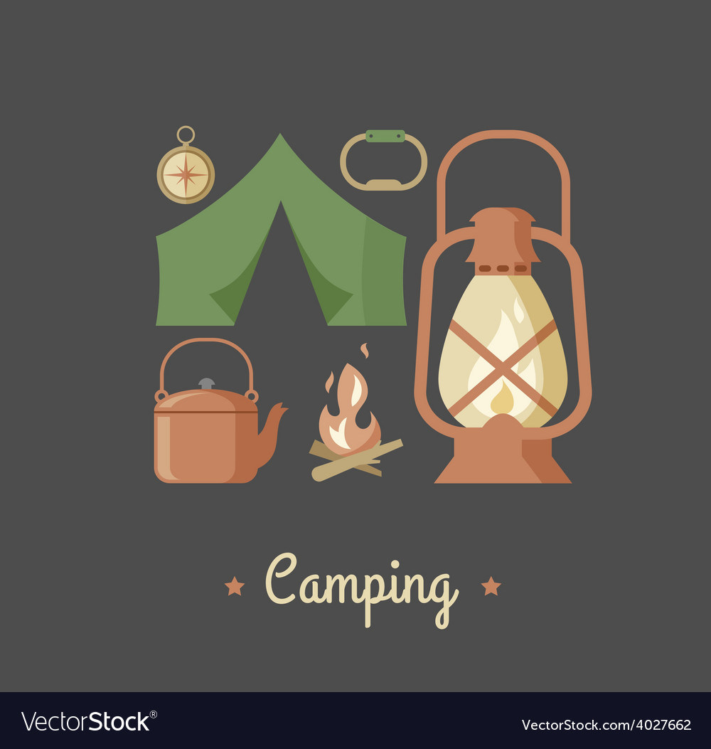 Hiking and camping vintage hipster poster vector   Price: 1 Credit (USD $1)