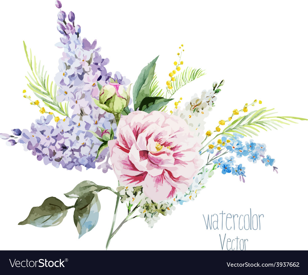 Lilac bouquet vector | Price: 1 Credit (USD $1)