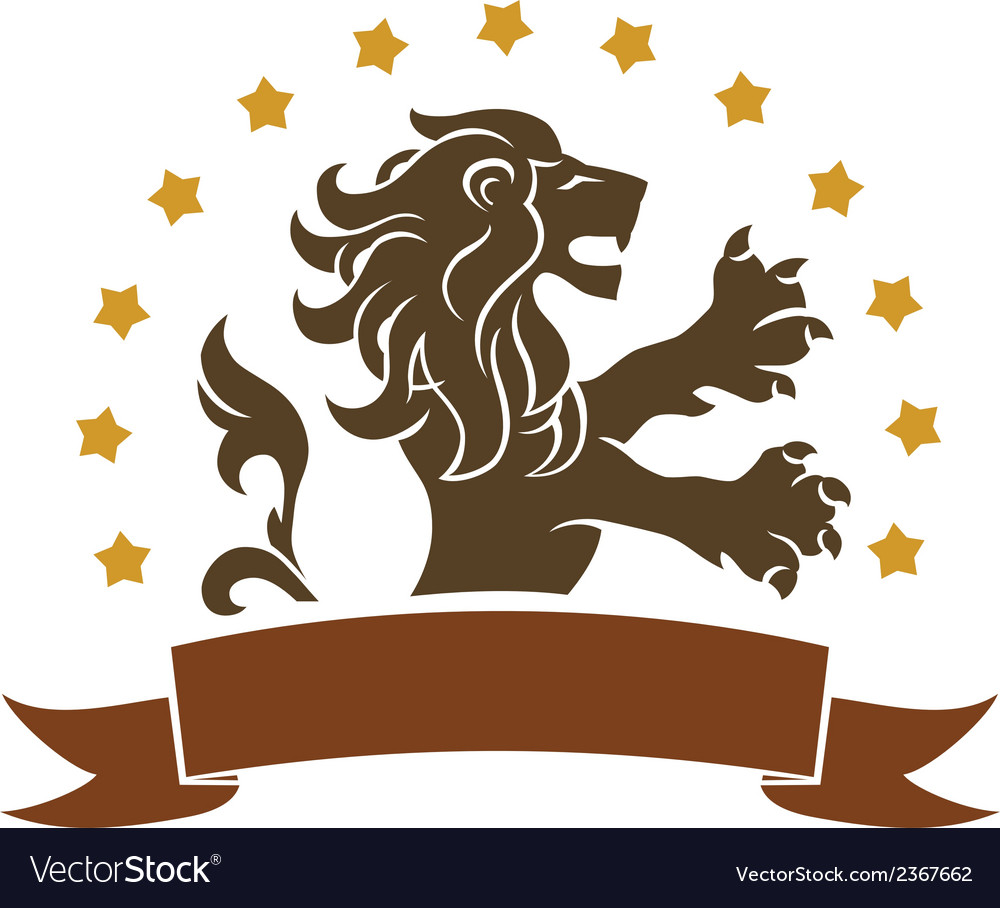 Lion emblem vector | Price: 1 Credit (USD $1)