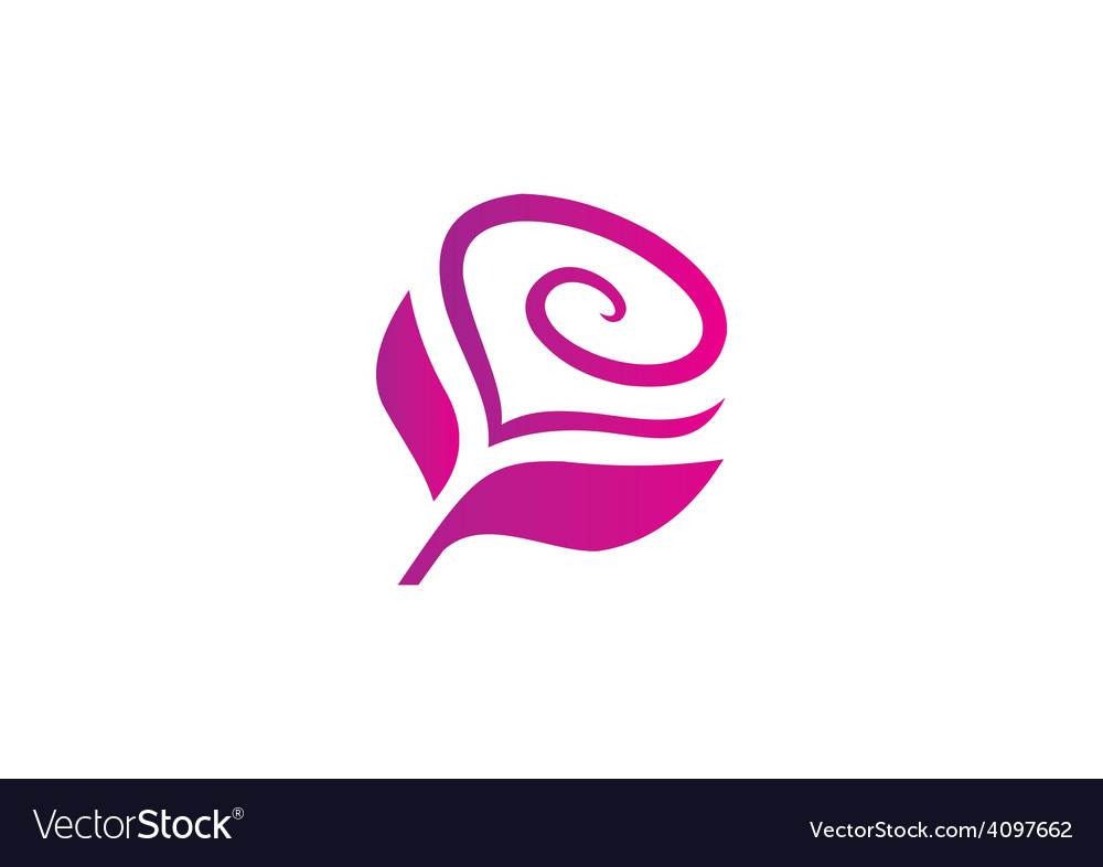 Love flower abstract logo vector | Price: 1 Credit (USD $1)