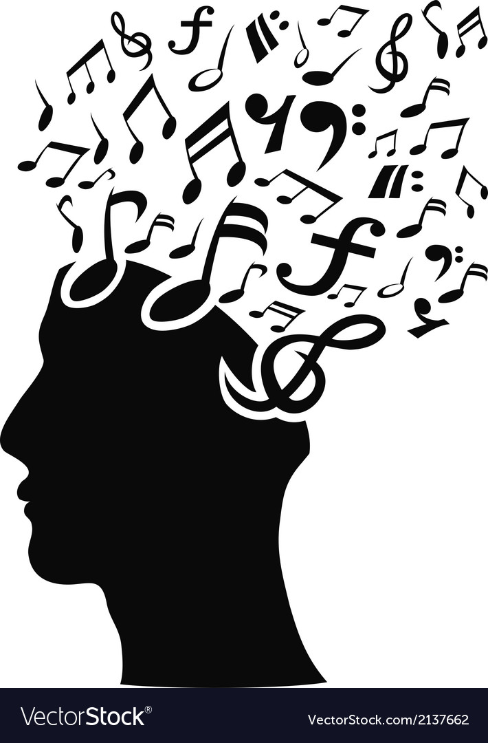 Musical note head vector | Price: 1 Credit (USD $1)