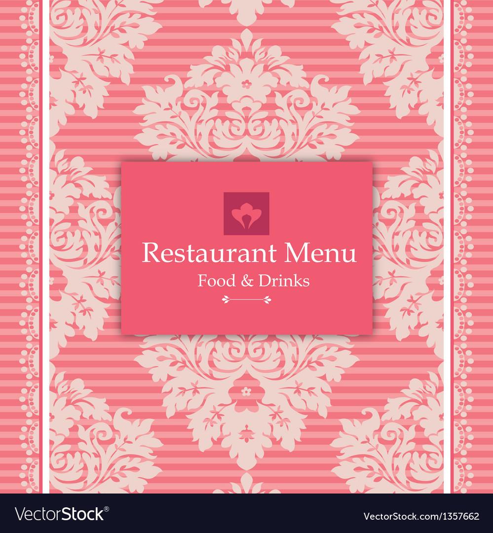 Pink menu design vector | Price: 1 Credit (USD $1)