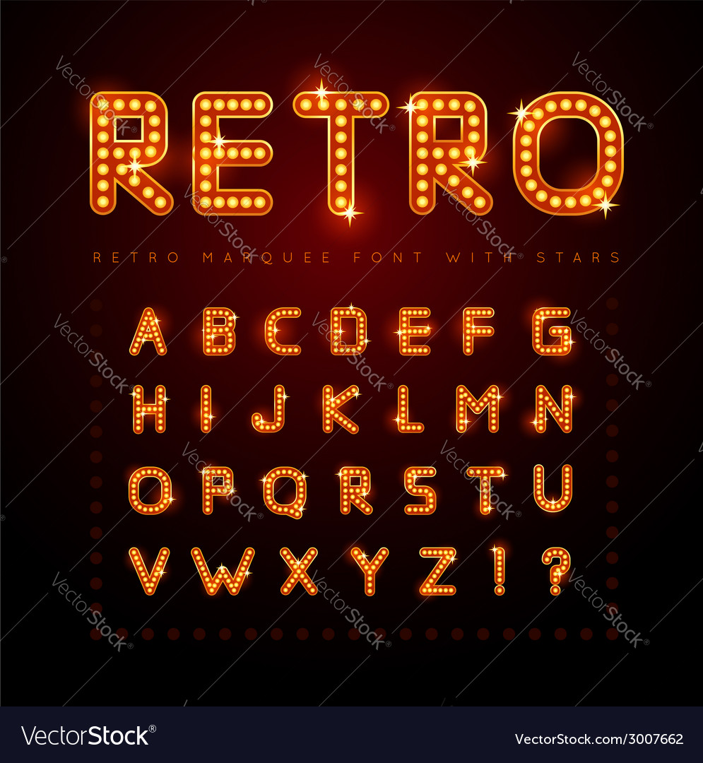 Retro font vector | Price: 1 Credit (USD $1)