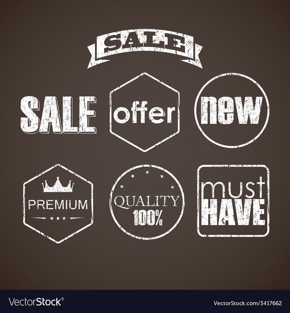 Set of sale labels vector   Price: 1 Credit (USD $1)