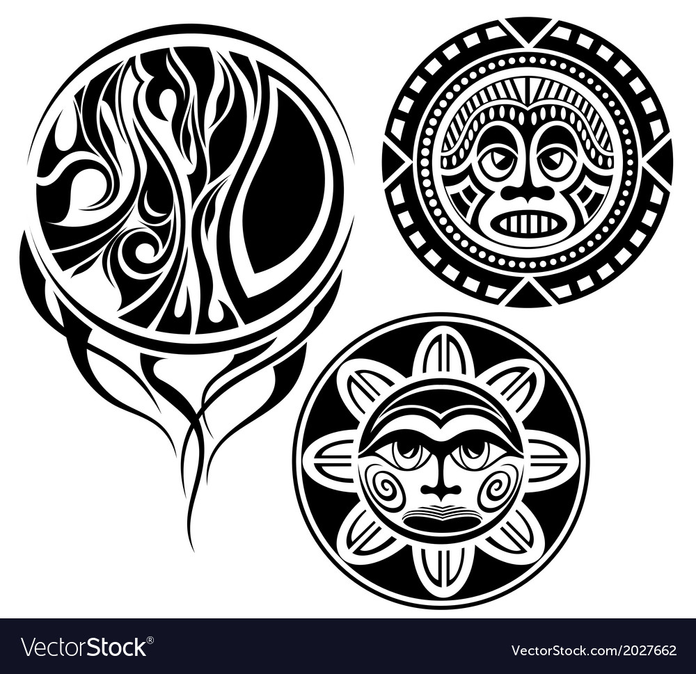 Set of tattoo elements vector | Price: 1 Credit (USD $1)