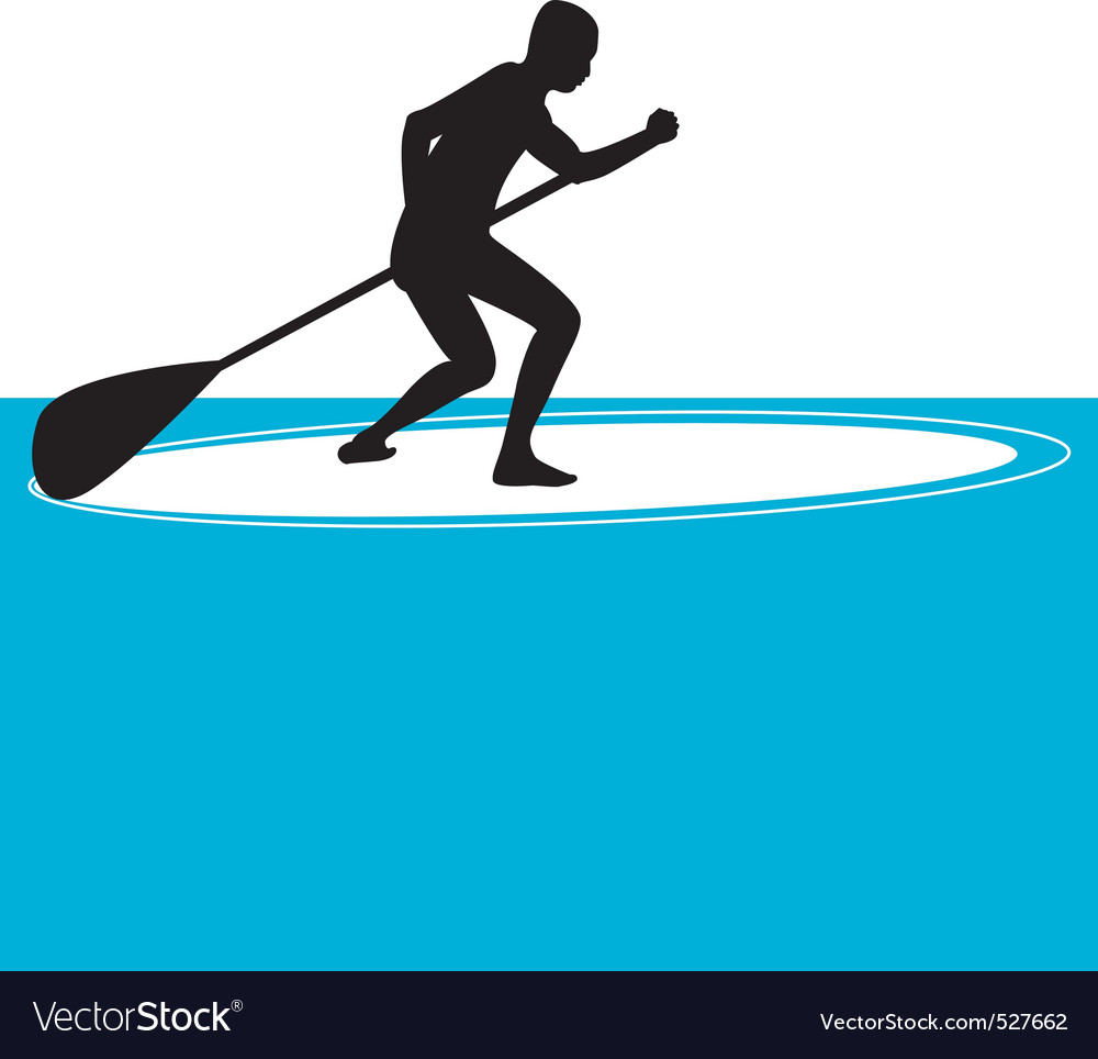 Stand up paddle boarding vector | Price: 1 Credit (USD $1)
