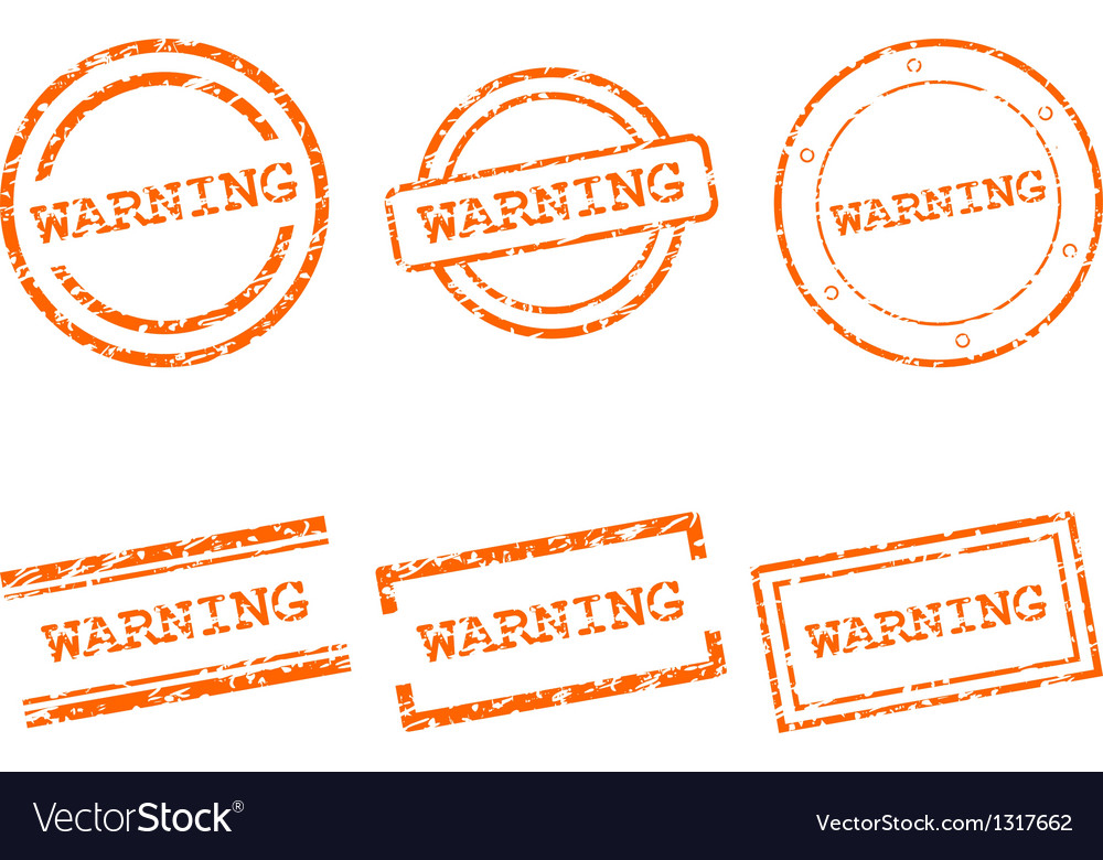 Warning stamps vector | Price: 1 Credit (USD $1)
