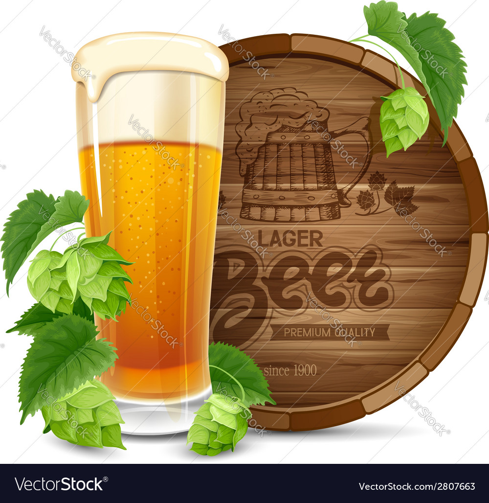 Beer and hops vector | Price: 3 Credit (USD $3)
