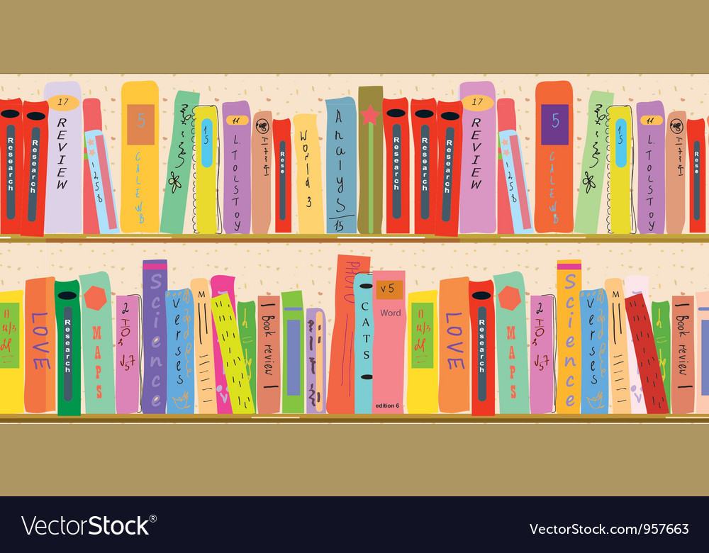 Book shelf vector | Price: 1 Credit (USD $1)