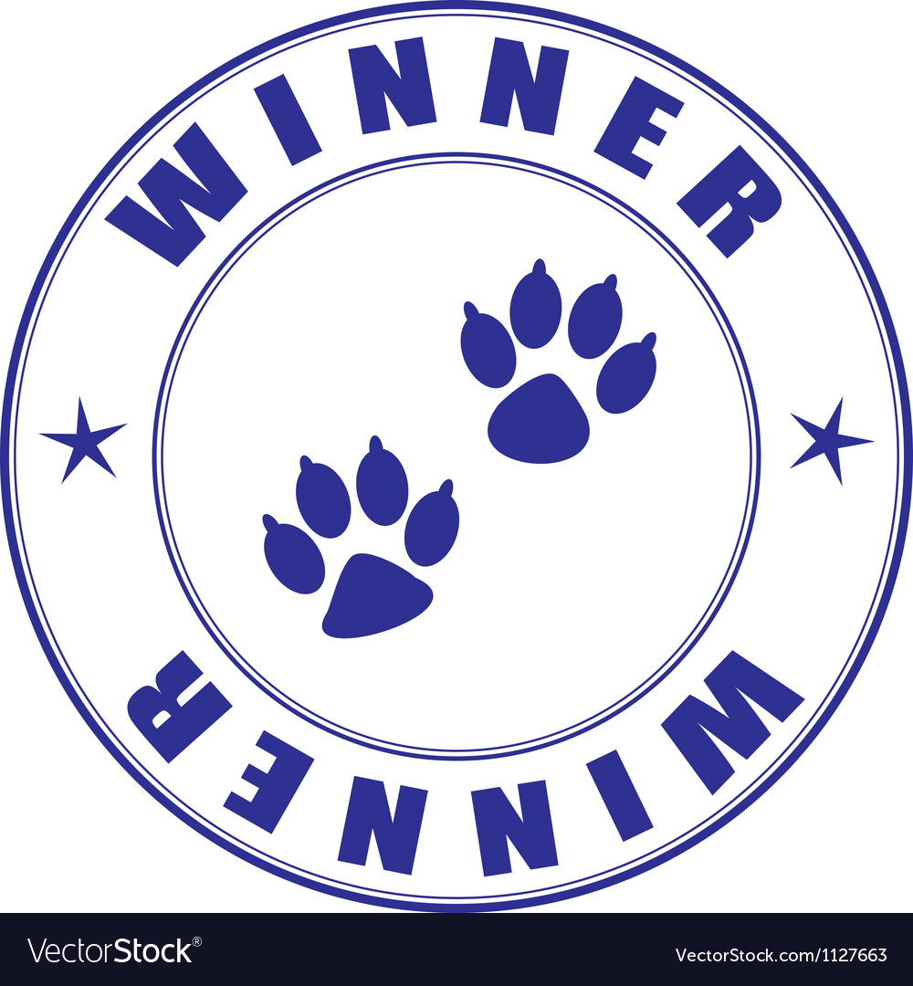 Canine club winner seal vector | Price: 1 Credit (USD $1)
