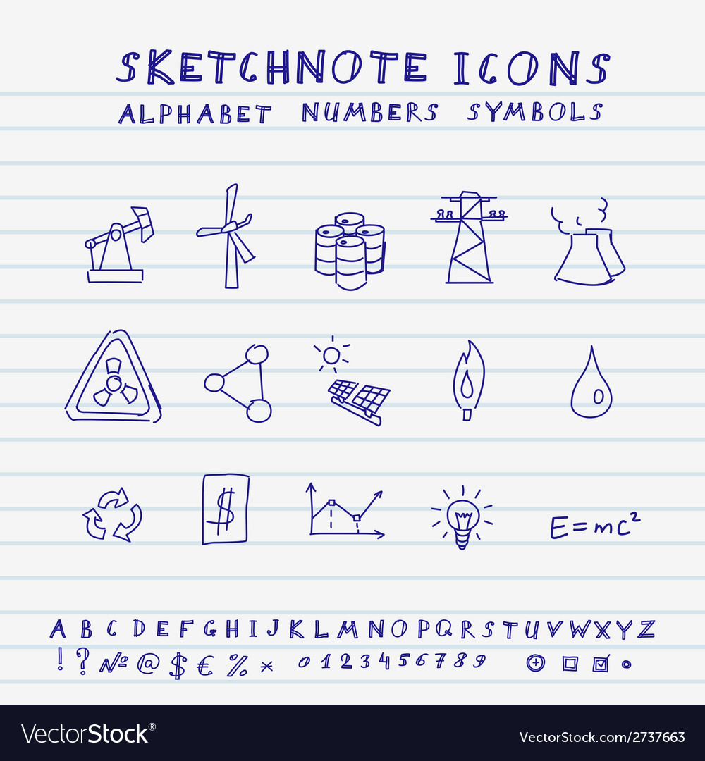 Doodle icons vector | Price: 1 Credit (USD $1)