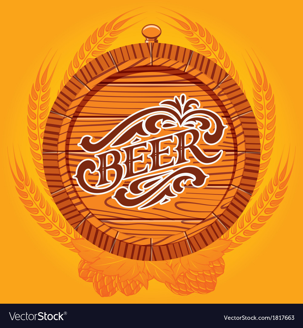 Glass of beer on a yellow background for the menu vector   Price: 1 Credit (USD $1)