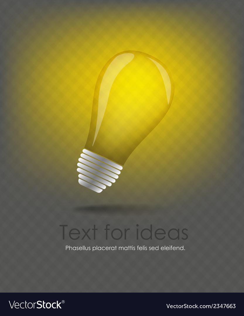 Idea web icon design element vector | Price: 1 Credit (USD $1)