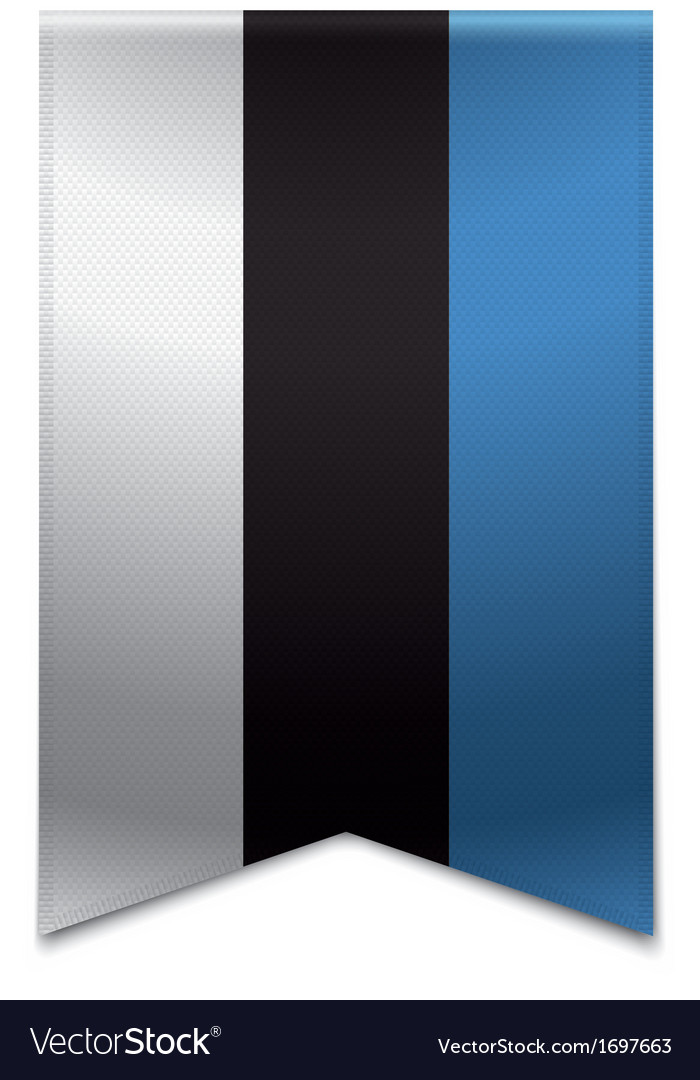 Ribbon banner - estonian flag vector | Price: 1 Credit (USD $1)