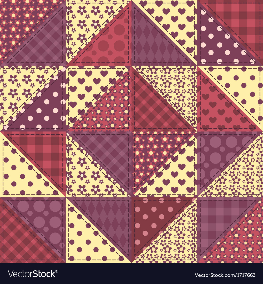 Seamless patchwork claret color pattern 1 vector | Price: 1 Credit (USD $1)
