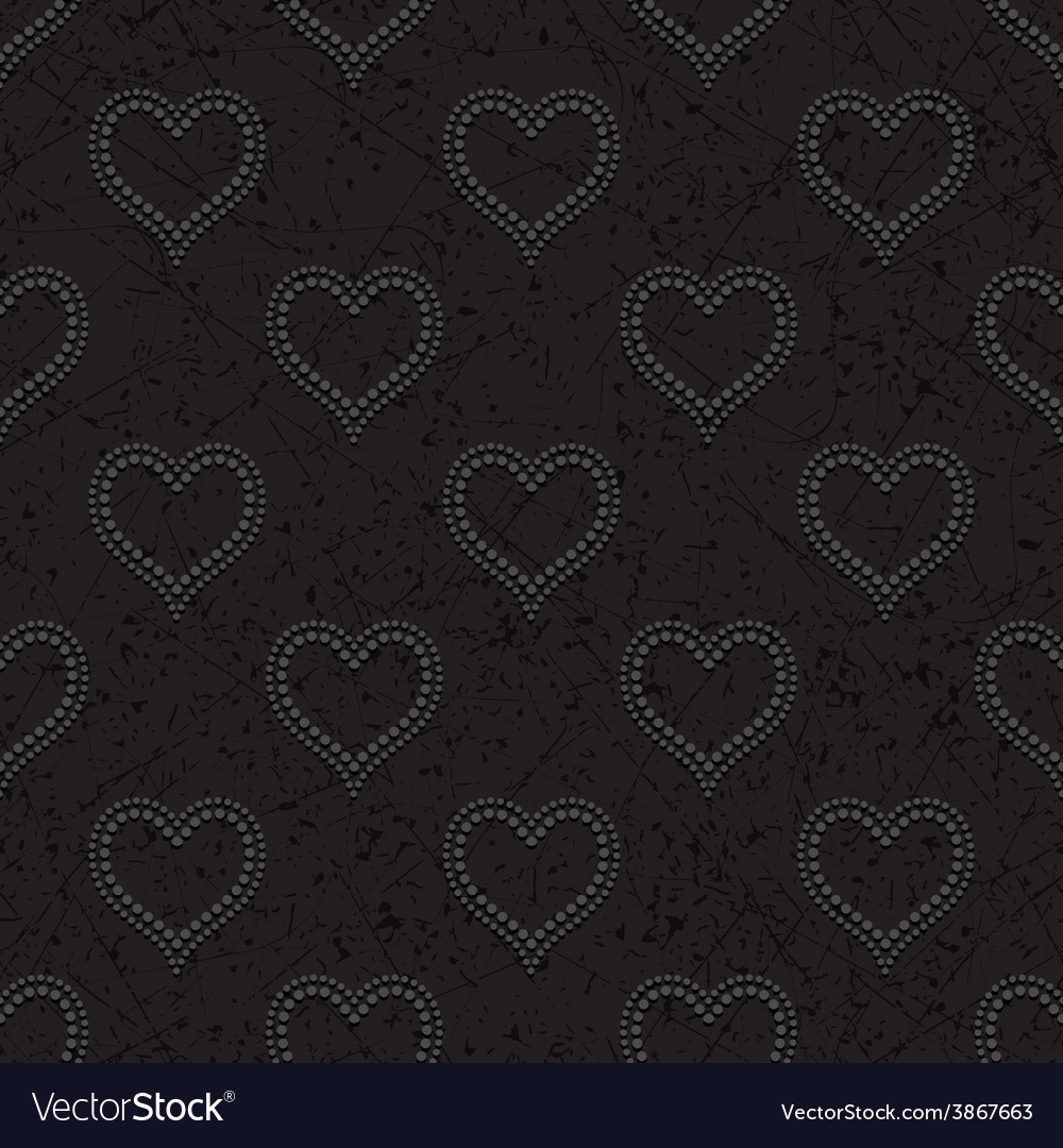 Seamless with polka dotted hearts vector | Price: 1 Credit (USD $1)