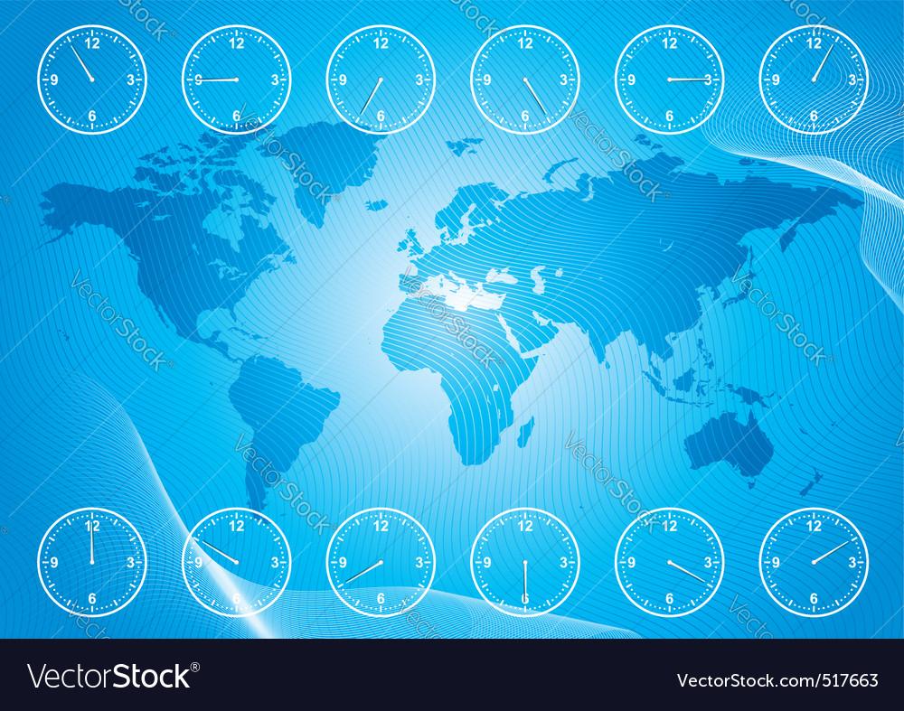 Timezone vector | Price: 1 Credit (USD $1)