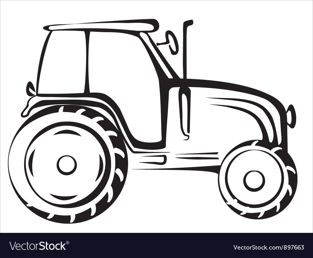 Tractor symbol vector | Price: 1 Credit (USD $1)