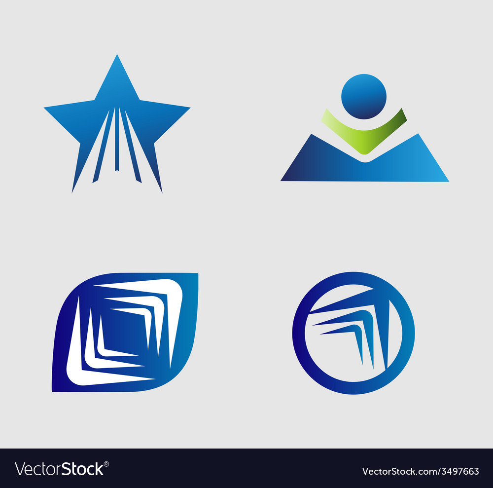 Unusual flat logo set for travel transport media vector | Price: 1 Credit (USD $1)
