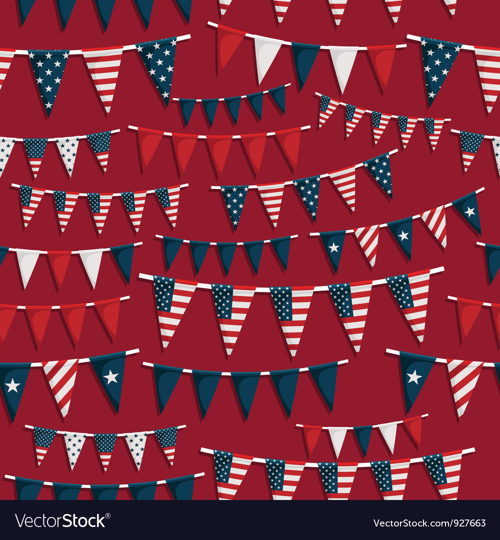 Usa party pattern vector | Price: 1 Credit (USD $1)