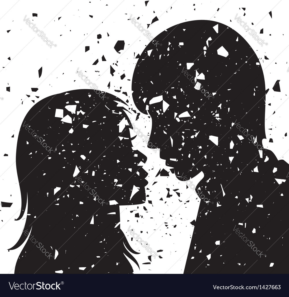 Young man and woman vector | Price: 1 Credit (USD $1)
