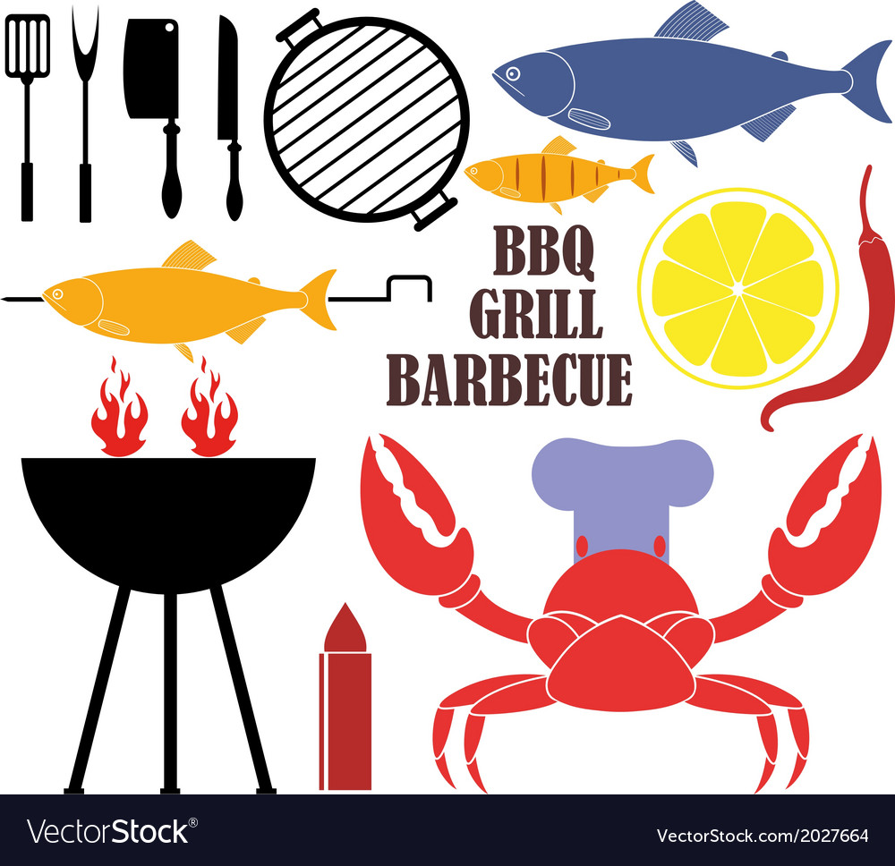 Barbecue grill vector | Price: 1 Credit (USD $1)