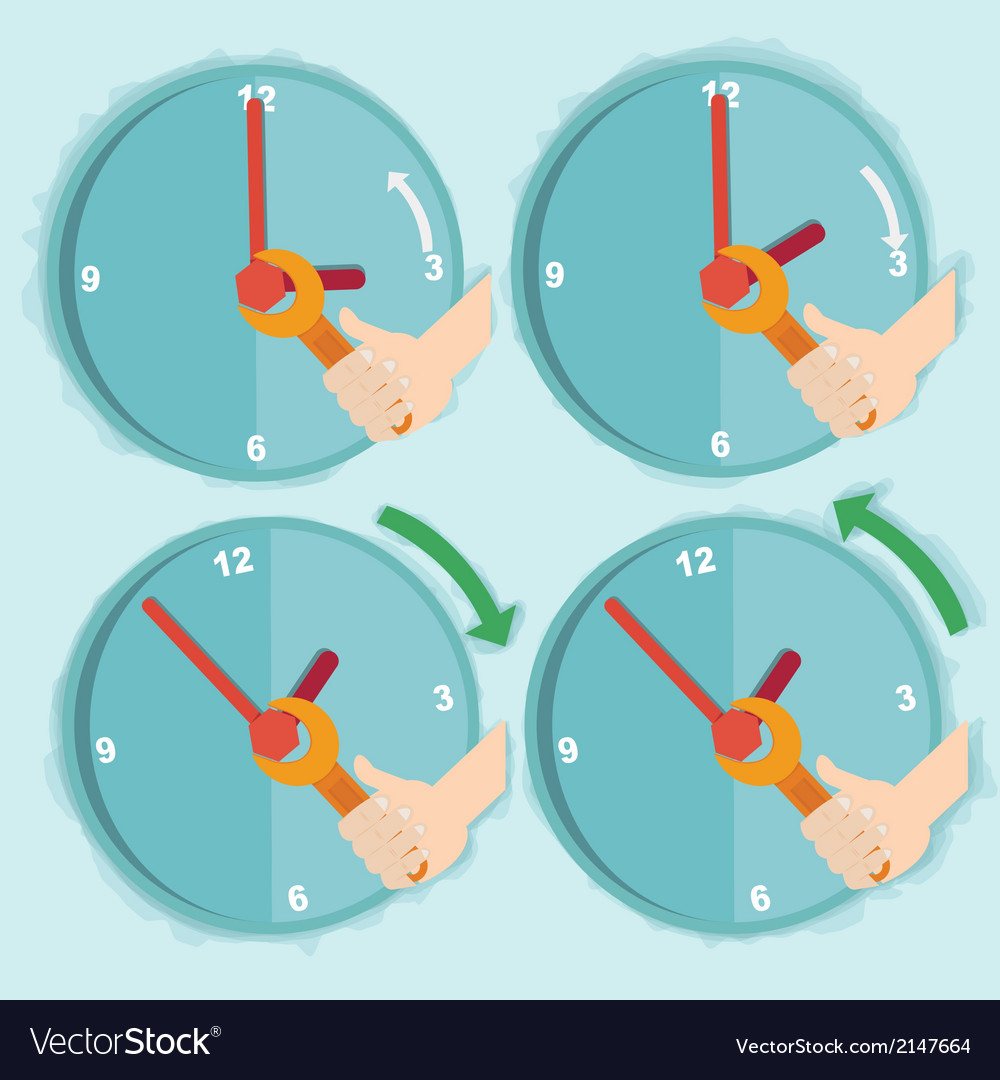 Daylight saving time vector | Price: 1 Credit (USD $1)