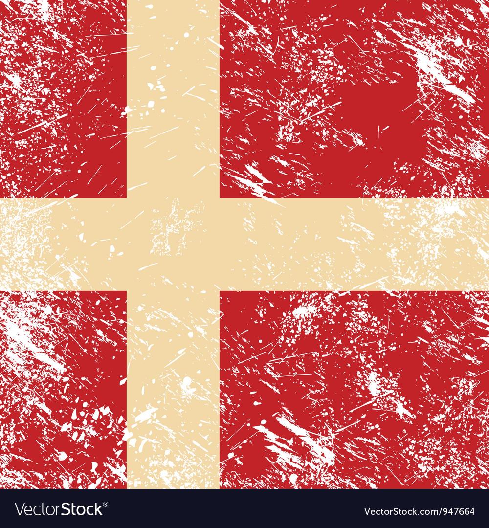 Denmark retro flag vector | Price: 1 Credit (USD $1)