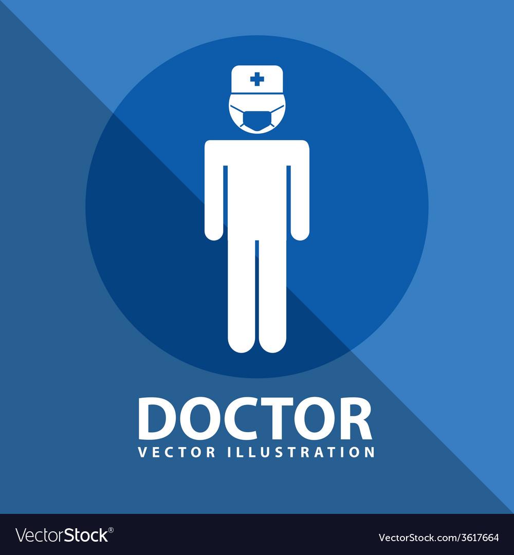 Doctor icon design vector | Price: 1 Credit (USD $1)