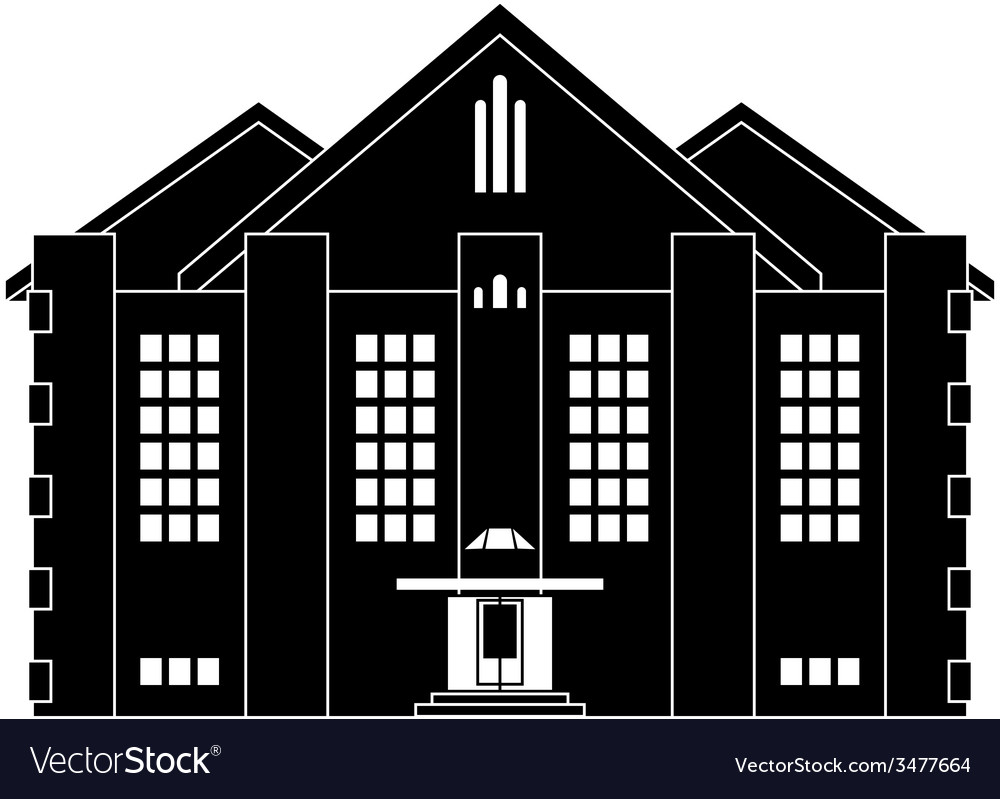 House in classical style vector | Price: 1 Credit (USD $1)