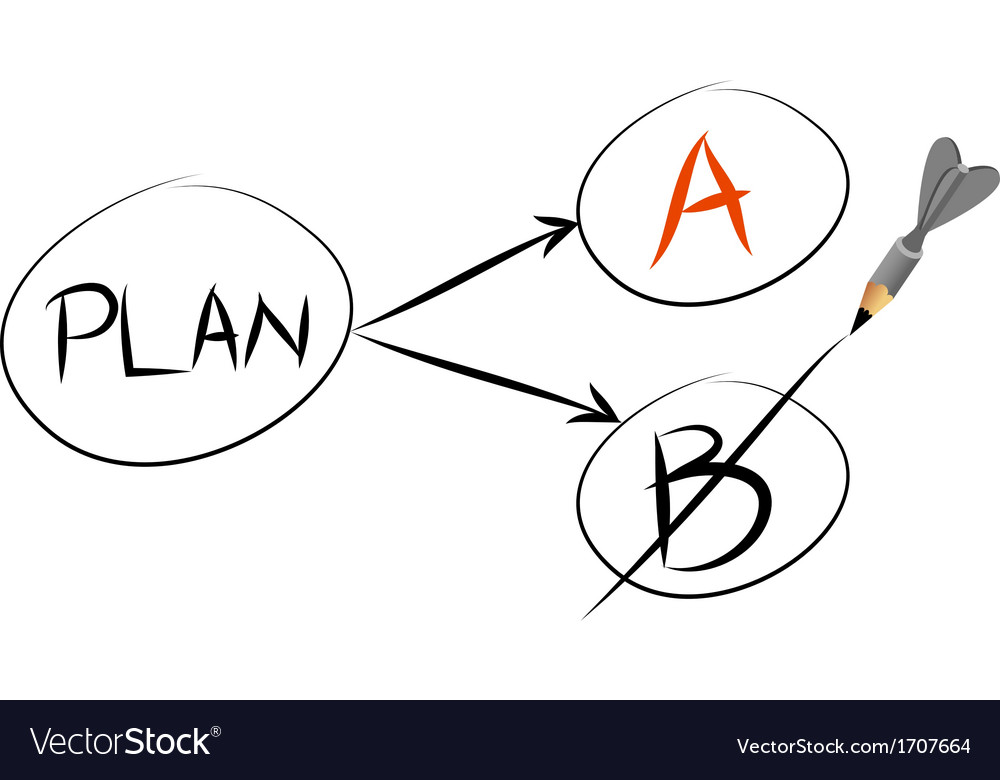 Plan a and plan b vector | Price: 1 Credit (USD $1)