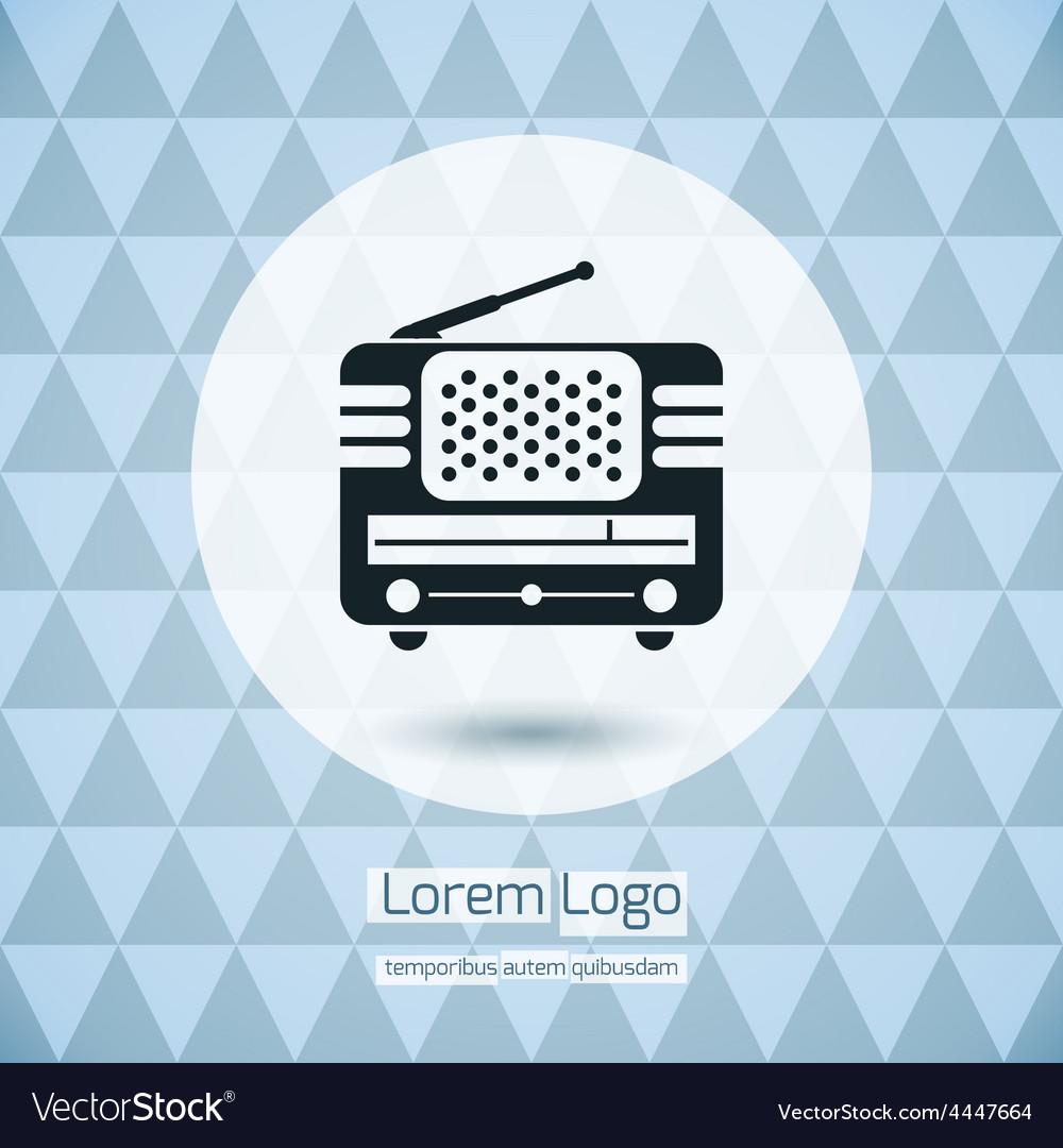 Radio icon logo vector   Price: 1 Credit (USD $1)