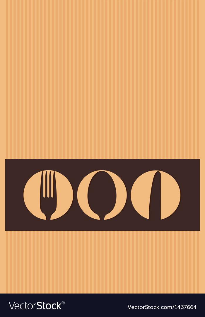 Restaurant menu design whit cutlery symbols on car vector | Price: 1 Credit (USD $1)