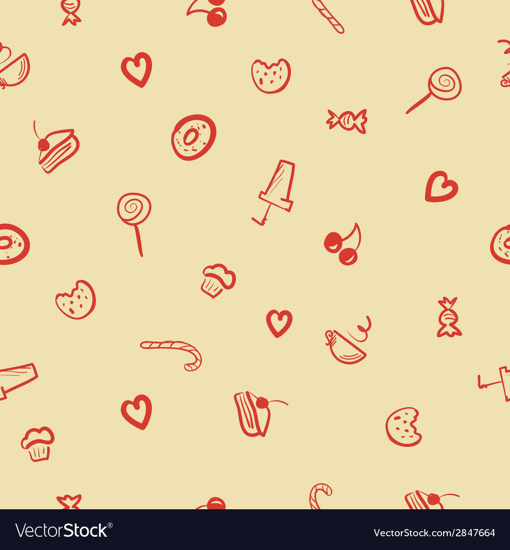 Sweets icons seamless pattern vector | Price: 1 Credit (USD $1)