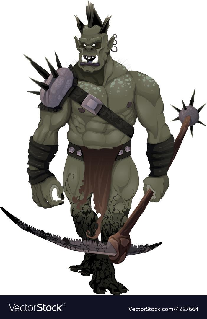 Warrior ogre vector | Price: 3 Credit (USD $3)