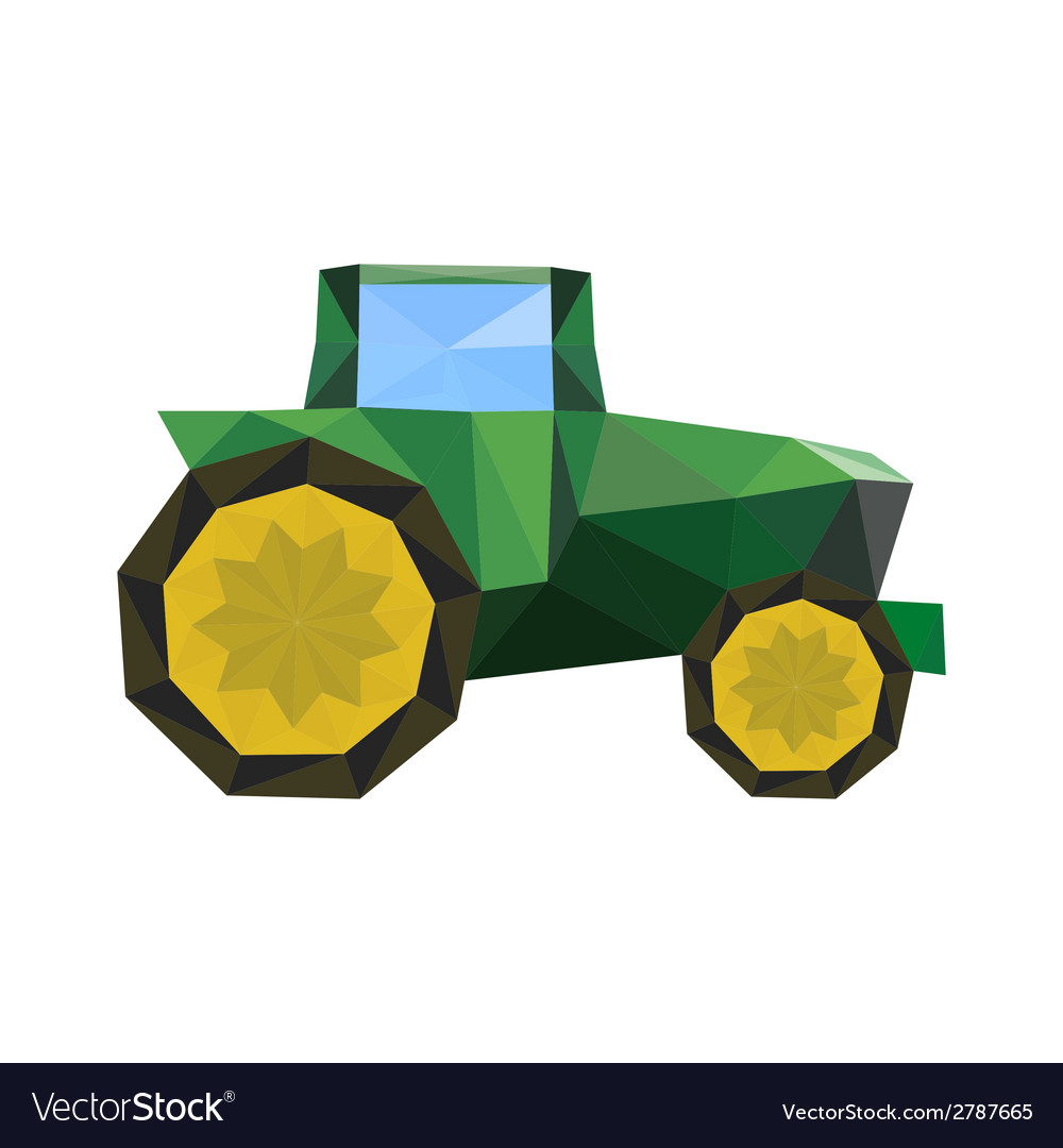 Abstract origami tractor vector | Price: 1 Credit (USD $1)
