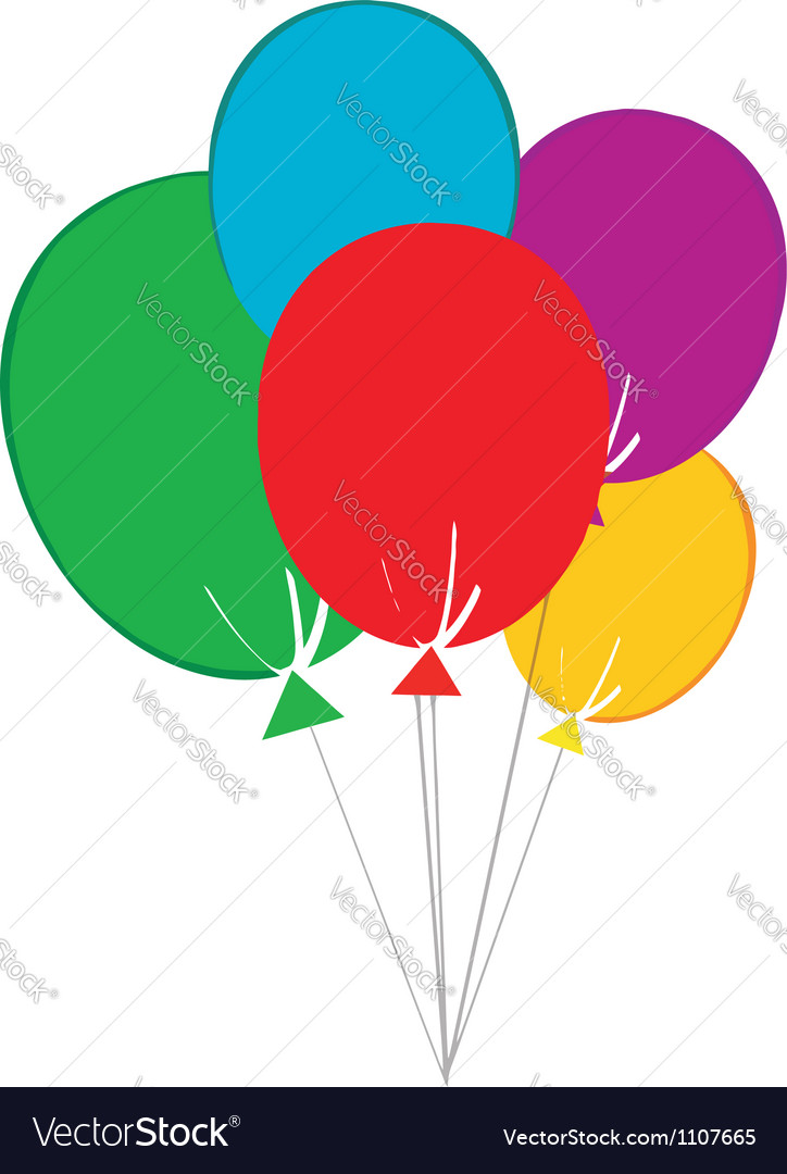 Birthday baloons vector | Price: 1 Credit (USD $1)