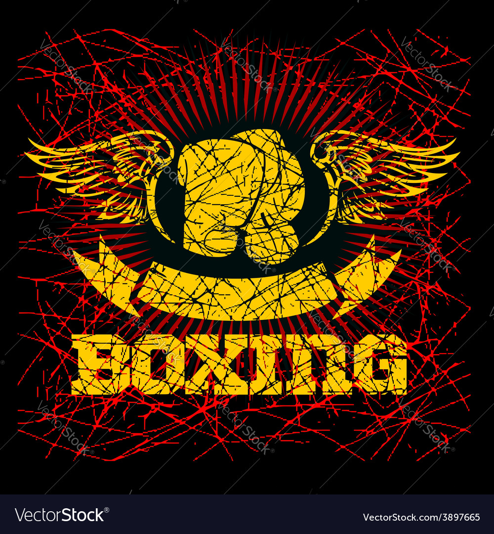 Boxing labels on grunge background vector | Price: 3 Credit (USD $3)