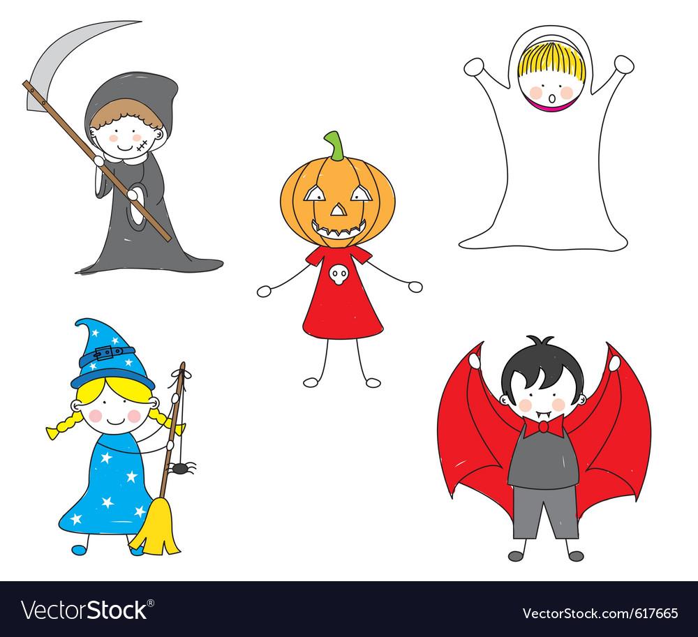 Cartoon halloween card vector | Price: 1 Credit (USD $1)