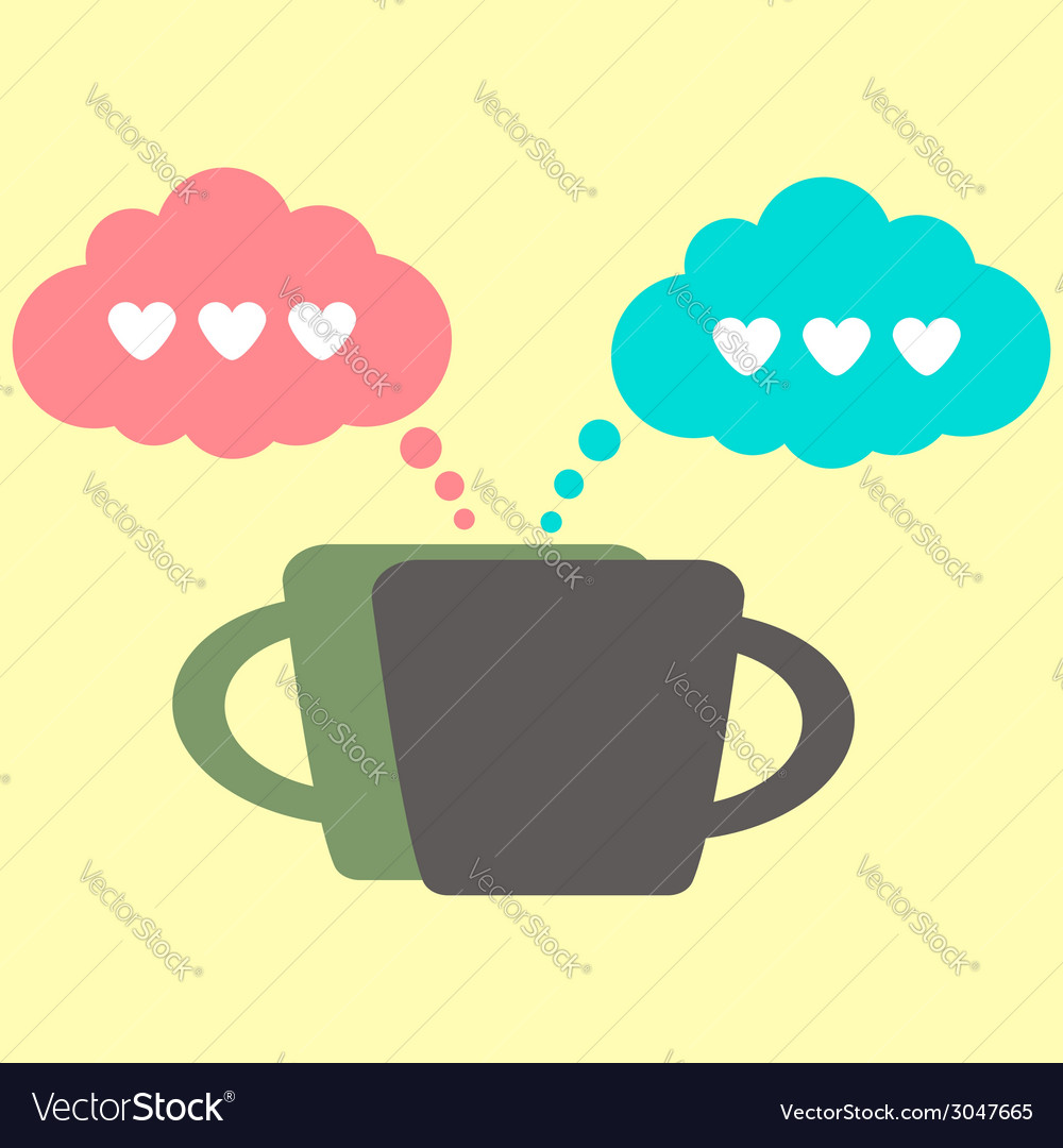 Coffee icon and lovers conversation vector | Price: 1 Credit (USD $1)