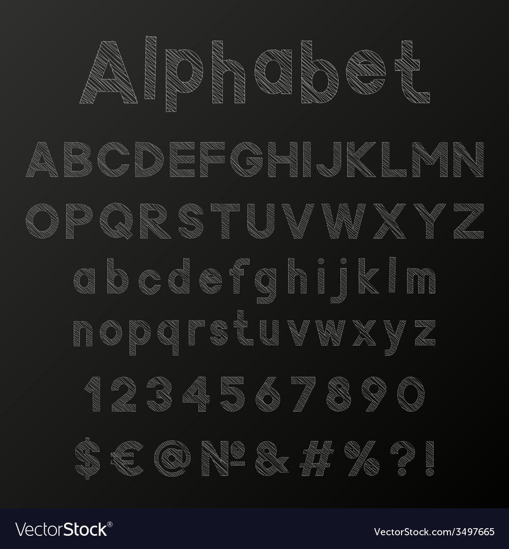 Decorative chalk alphabet vector | Price: 1 Credit (USD $1)