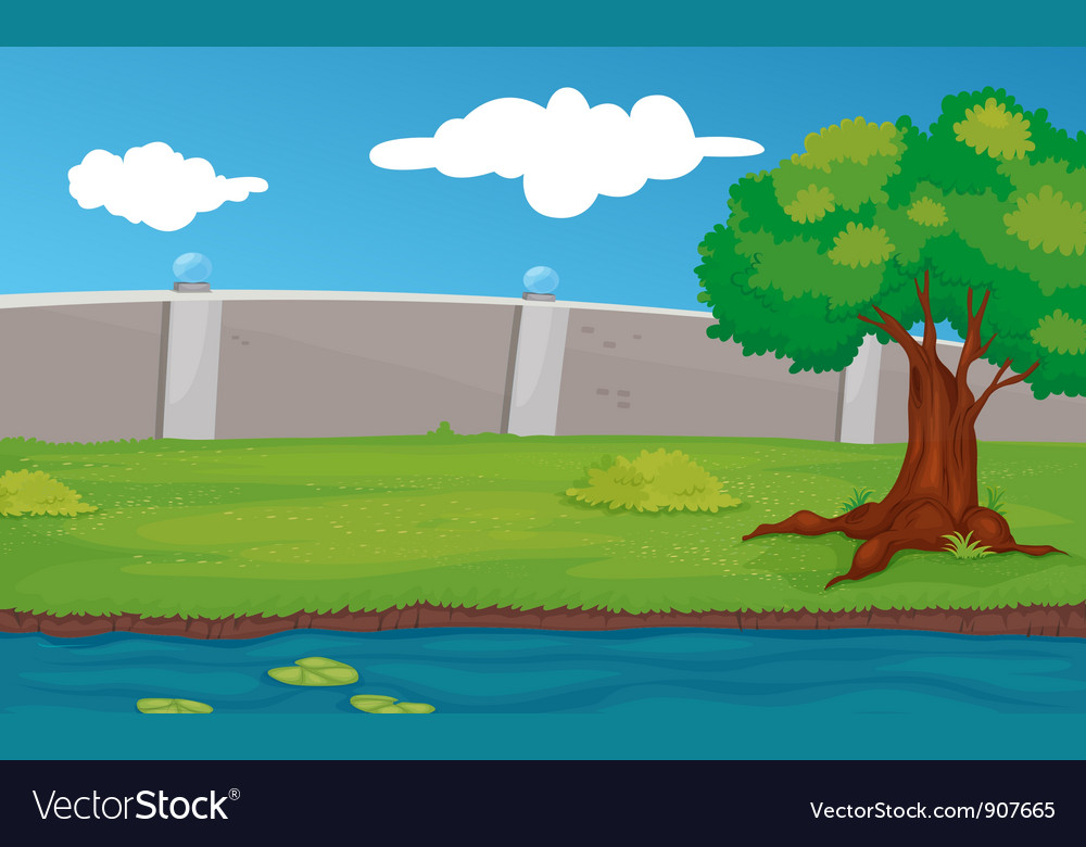 Empty park scene vector | Price: 3 Credit (USD $3)