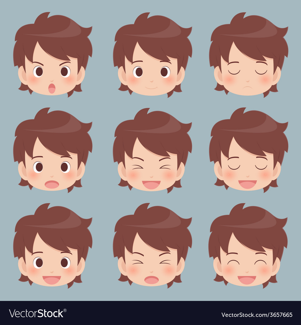 Facial expression vector | Price: 1 Credit (USD $1)