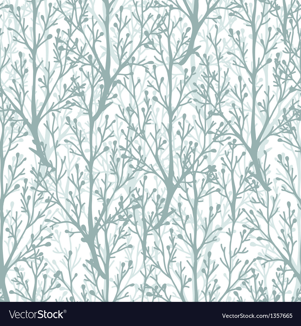 Forest trees texture seamless pattern background vector | Price: 1 Credit (USD $1)