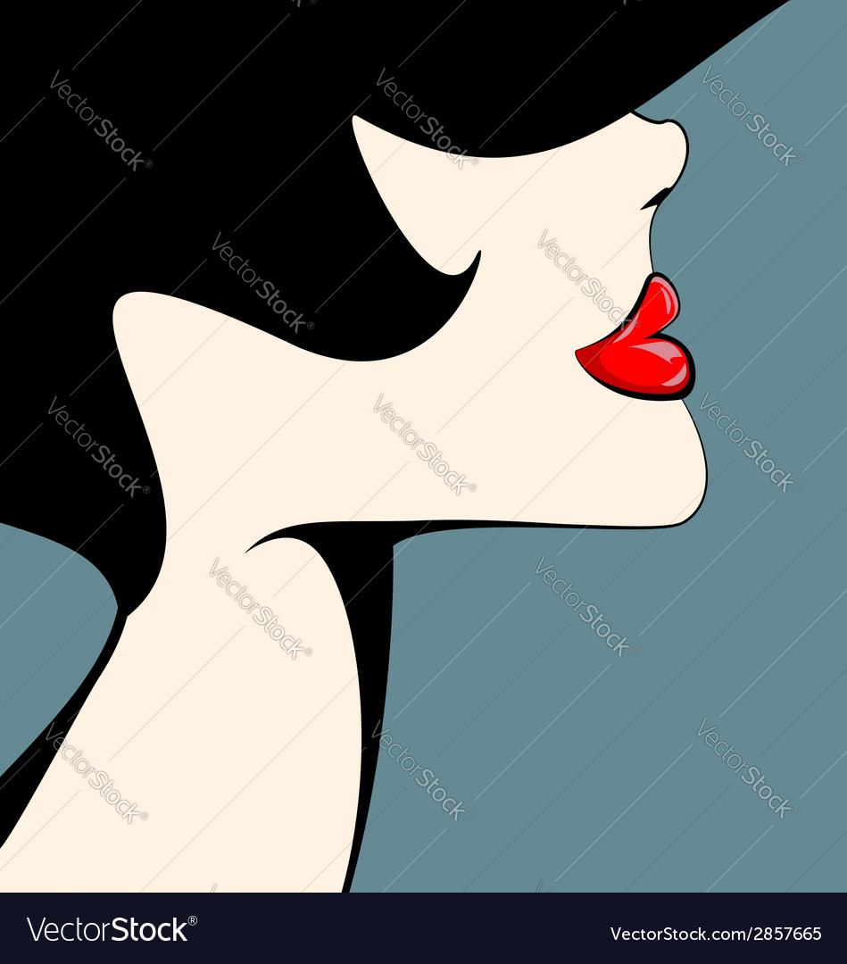 Head of a woman vector   Price: 1 Credit (USD $1)