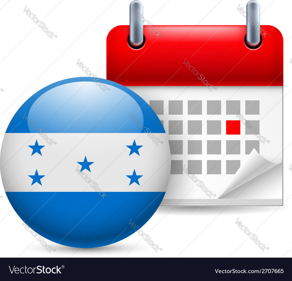 Icon of national day in honduras vector | Price: 1 Credit (USD $1)