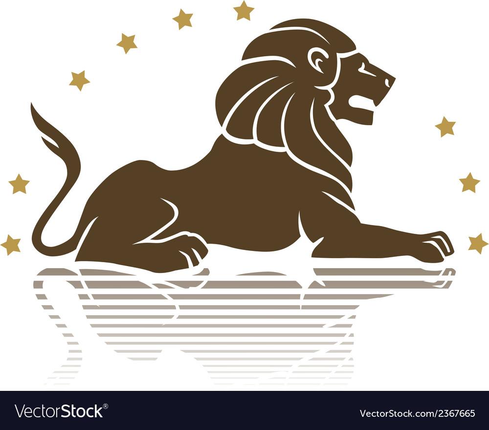 Lion emblem vector | Price: 1 Credit (USD $1)